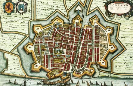 Gorinchem. Blaeu 1652.